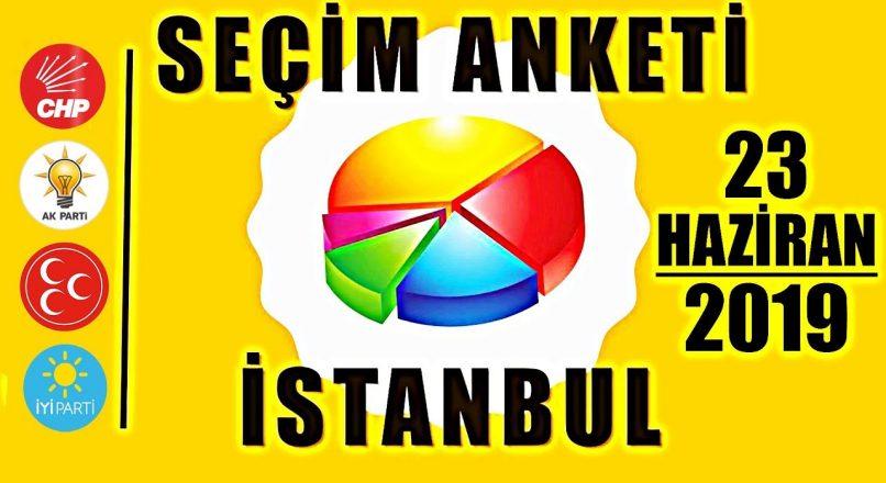 23 Haziran 2019 İstanbul Seçim Anketi